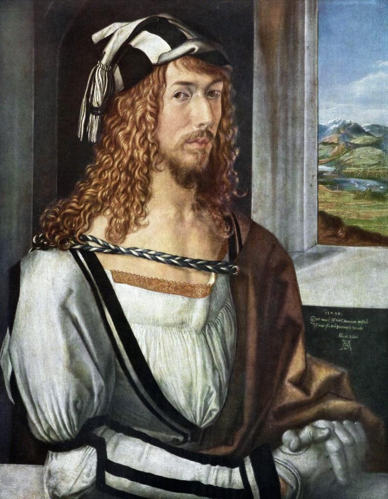 Albrecht Dürer, Self-portrait at 26, 1498. Museo del Prado. Source: Wikimedia Commons