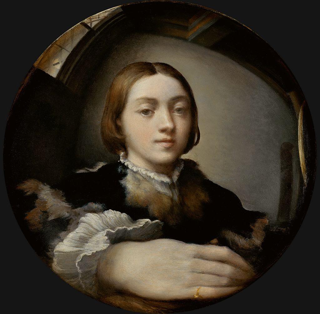 Self-portrait in a convex mirror (1503), Parmigianino. Source: Wikimedia commons
